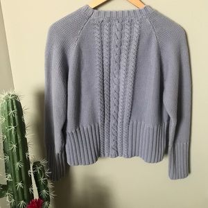 🍁Grey Cable Fable Sweater🍁